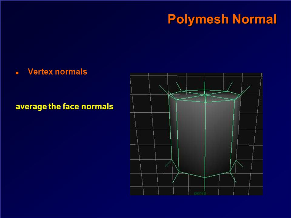 Polymesh Normal n Vertex normals