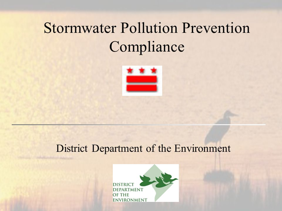 Stormwater Pollution Prevention Compliance District Department of the Environment