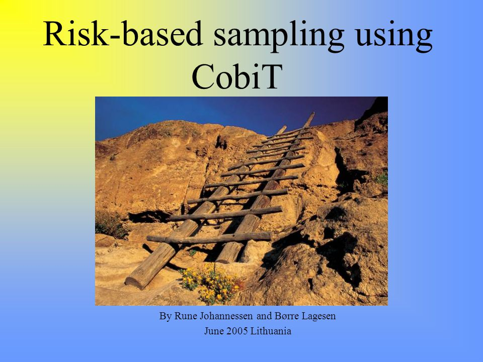Risk-based sampling using CobiT By Rune Johannessen and Børre Lagesen June 2005 Lithuania