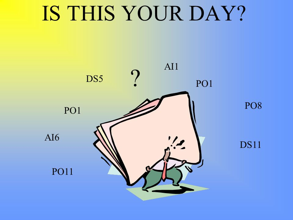 IS THIS YOUR DAY PO8 PO1 DS11 AI6 PO11 AI1 PO1 DS5