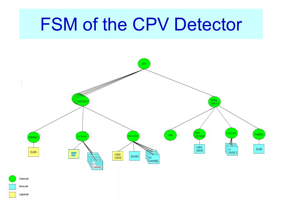 FSM of the CPV Detector