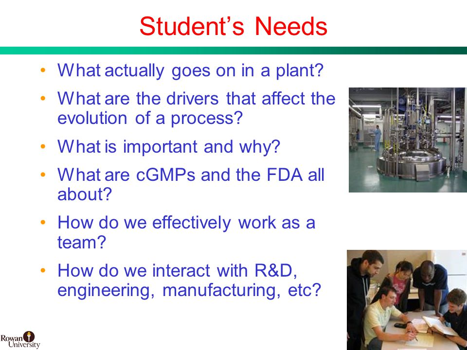 12 BMS Confidential PUBD 13745 Student's Needs What actually goes on in a plant.
