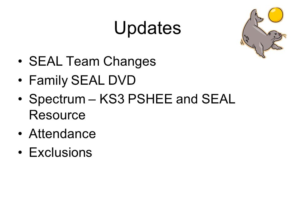 Updates SEAL Team Changes Family SEAL DVD Spectrum – KS3 PSHEE and SEAL Resource Attendance Exclusions