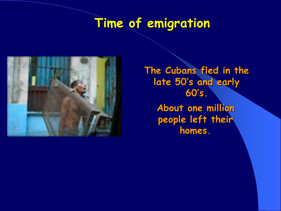 Cuban emigration By Tobias Hannes Bastian and Julian
