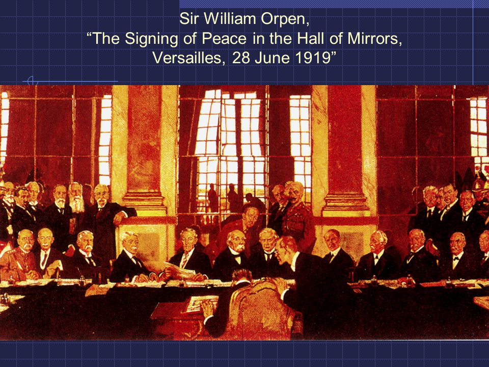 Sir William Orpen, The Signing of Peace in the Hall of Mirrors, Versailles, 28 June 1919
