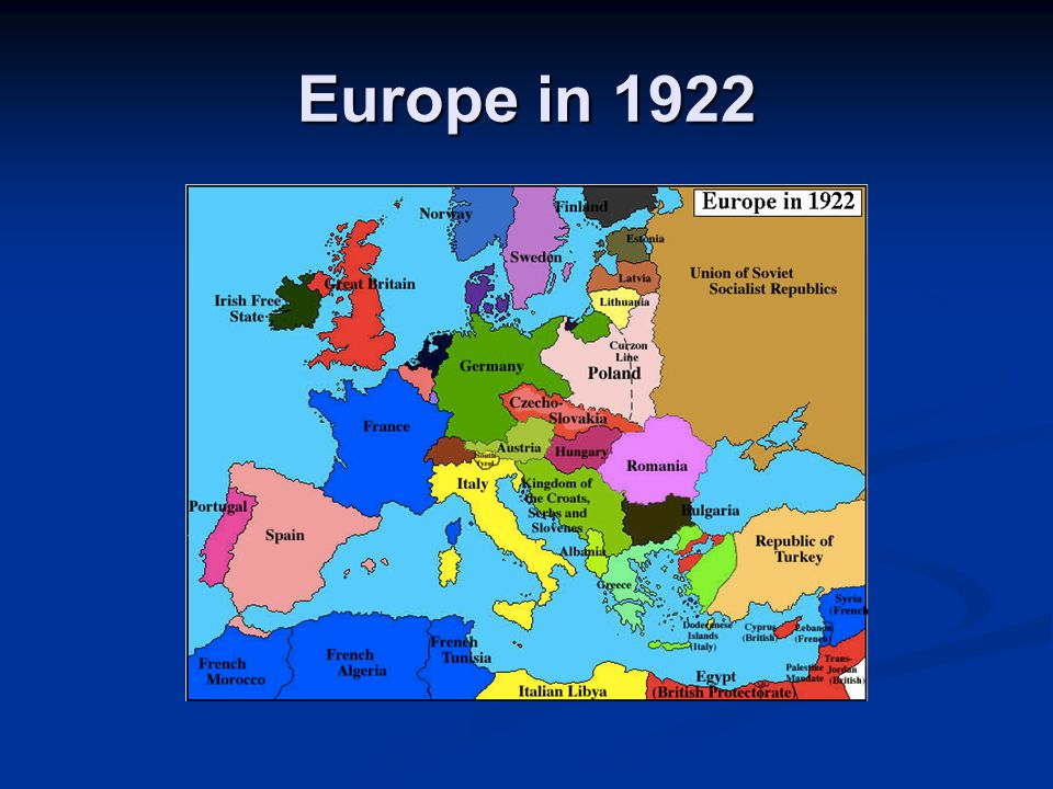 Europe in 1922
