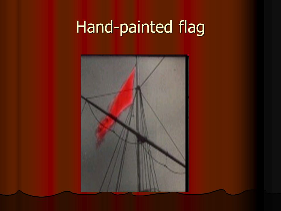 Hand-painted flag