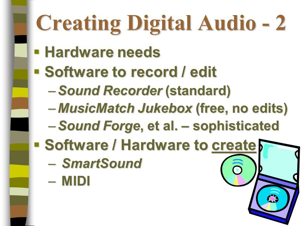 Digital Audio / Sound — An Underutilized Medium Integrating