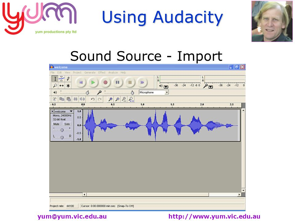 Using Audacity   Sound Source - Import