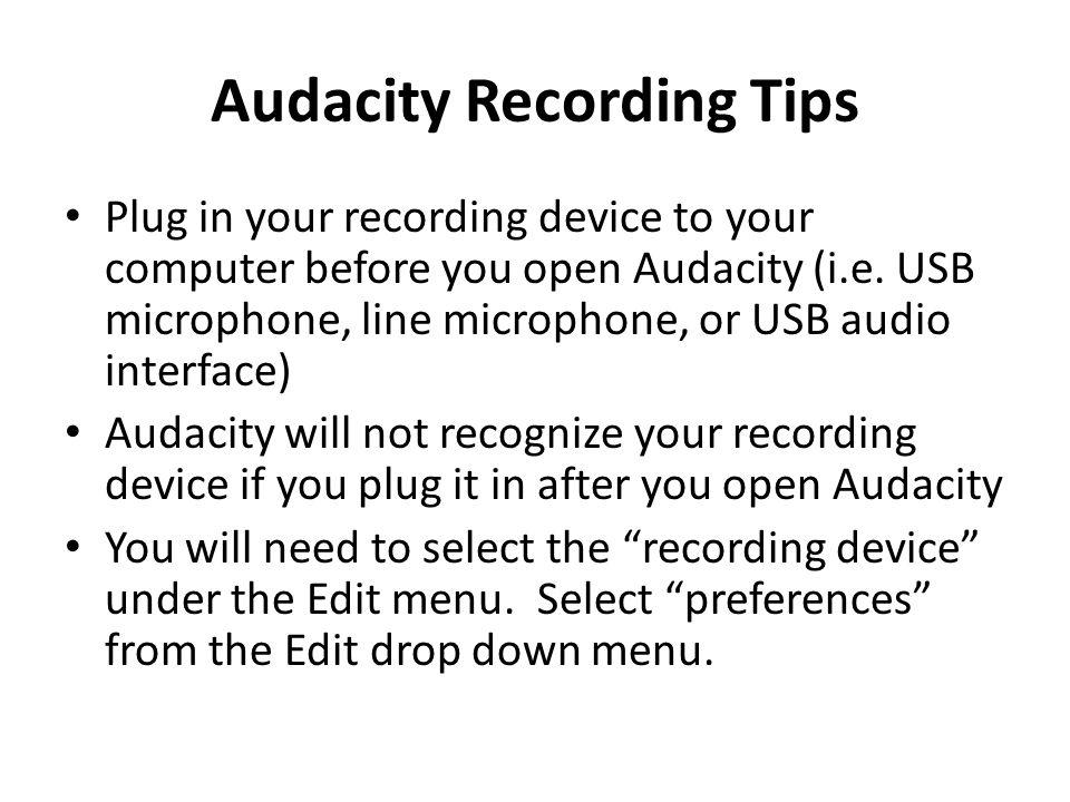 Audacity Audacity® is free, open source, cross- platform software