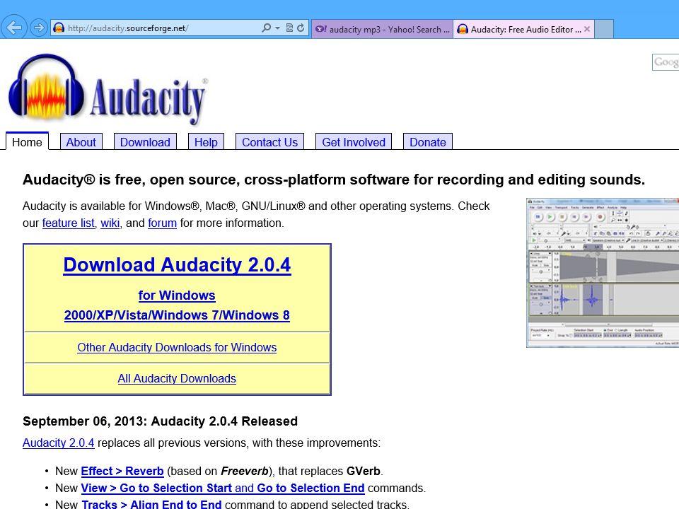 Audacity Audacity® is free, open source, cross- platform