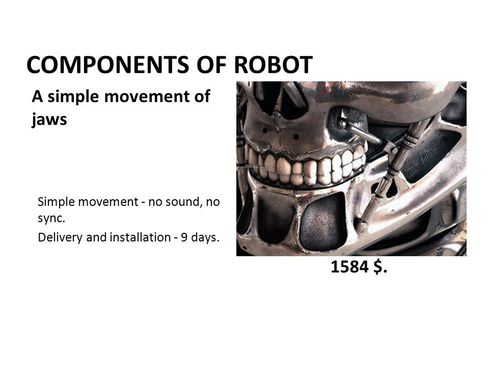 COMPONENTS OF ROBOT Simple movement - no sound, no sync.