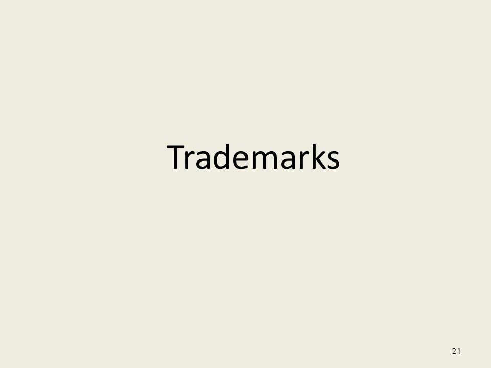21 Trademarks
