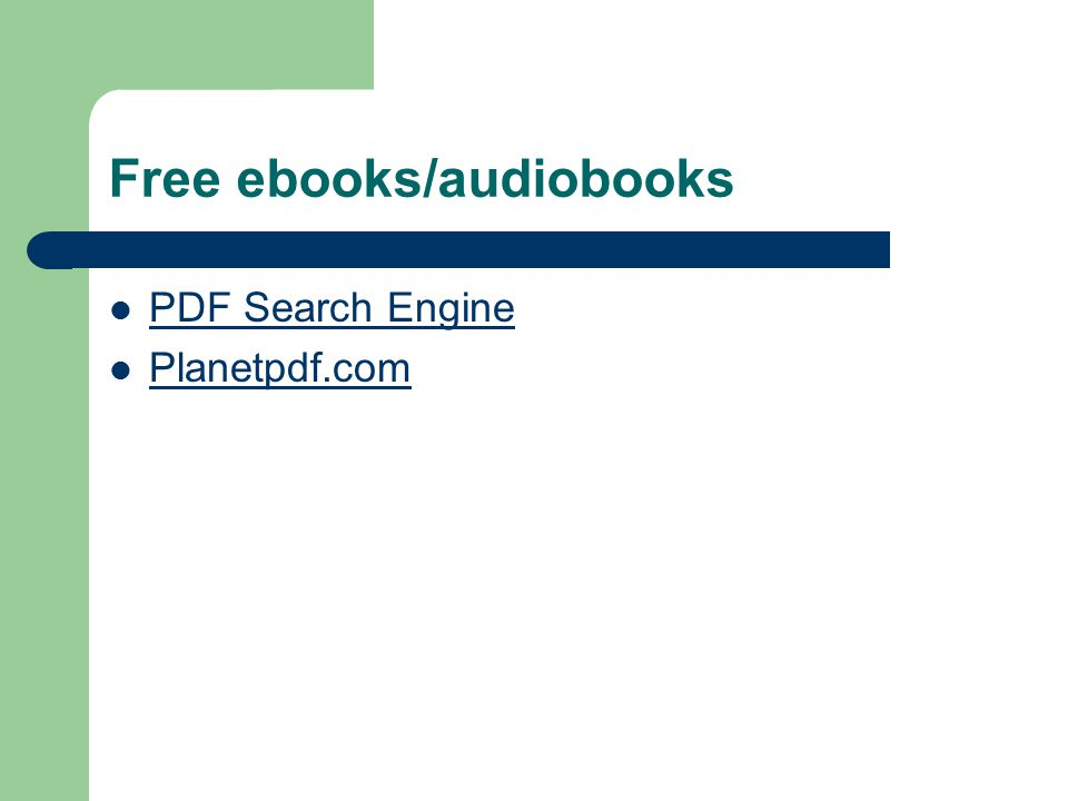 Free ebooks/audiobooks PDF Search Engine Planetpdf.com