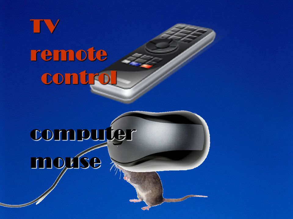 TV remote control computer mouse
