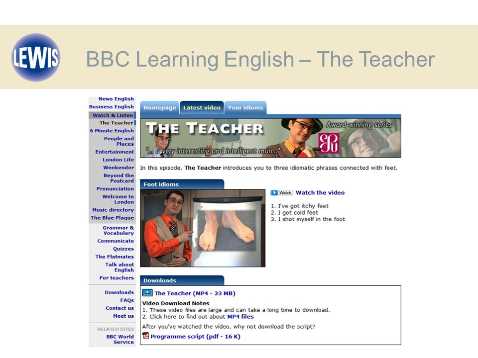 BBC Learning English – The Teacher