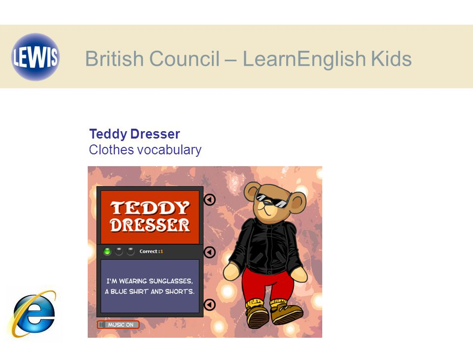 Teddy Dresser Clothes vocabulary British Council – LearnEnglish Kids