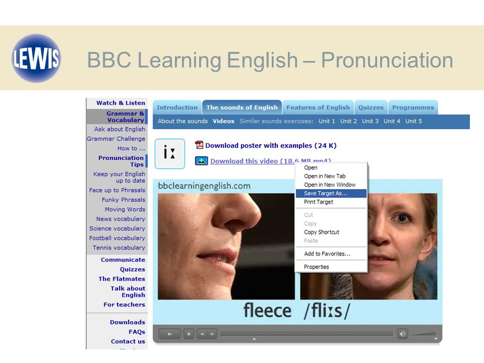BBC Learning English – Pronunciation