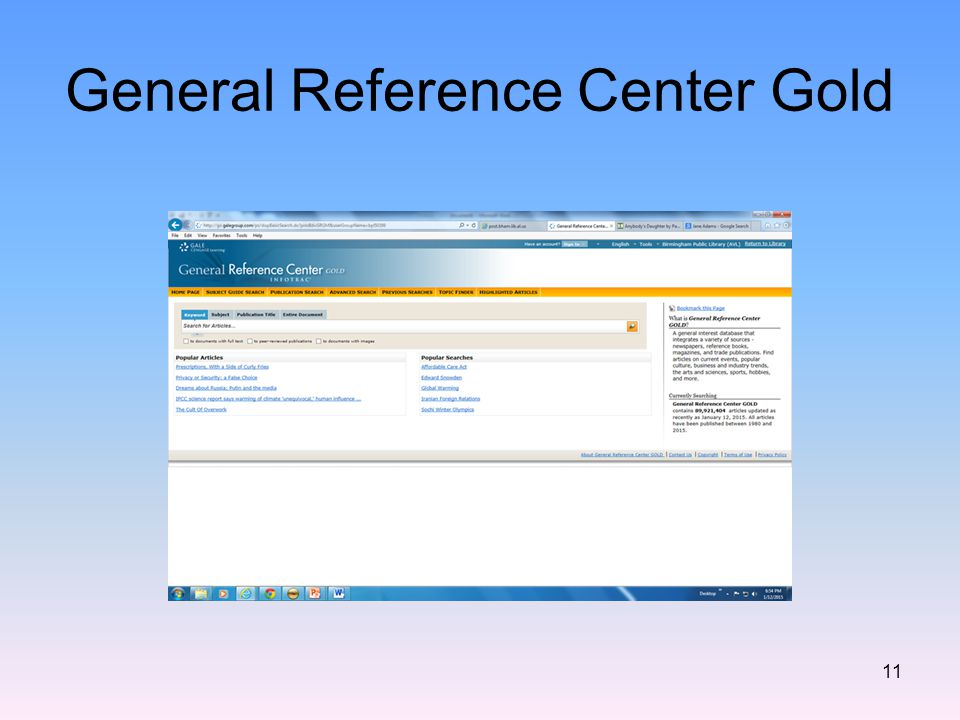 General Reference Center Gold 11
