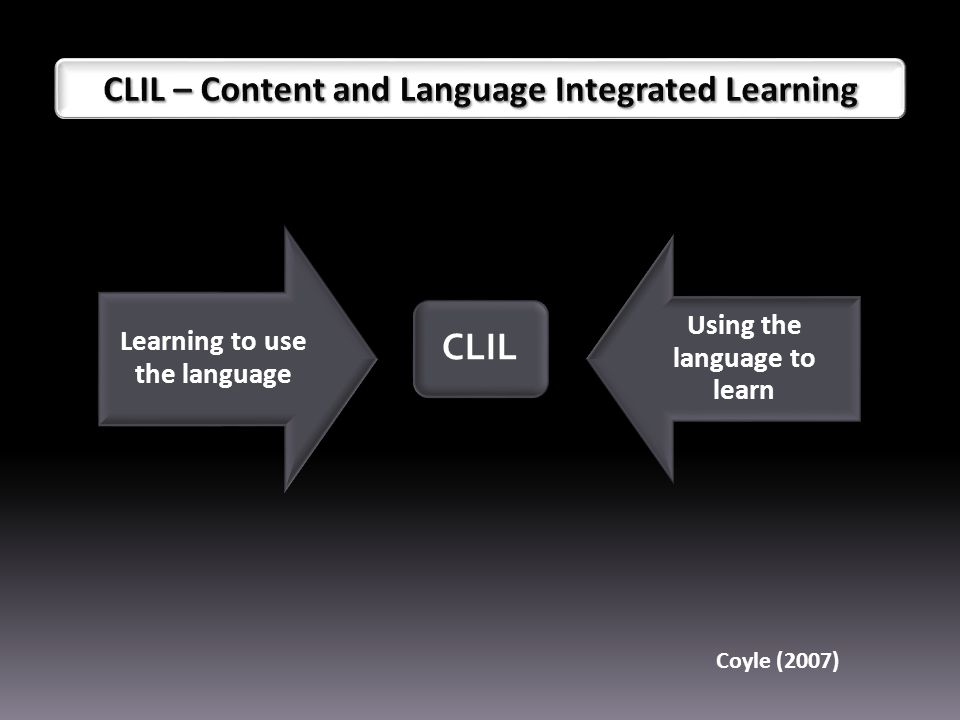 Using the language to learn Learning to use the language Coyle (2007)