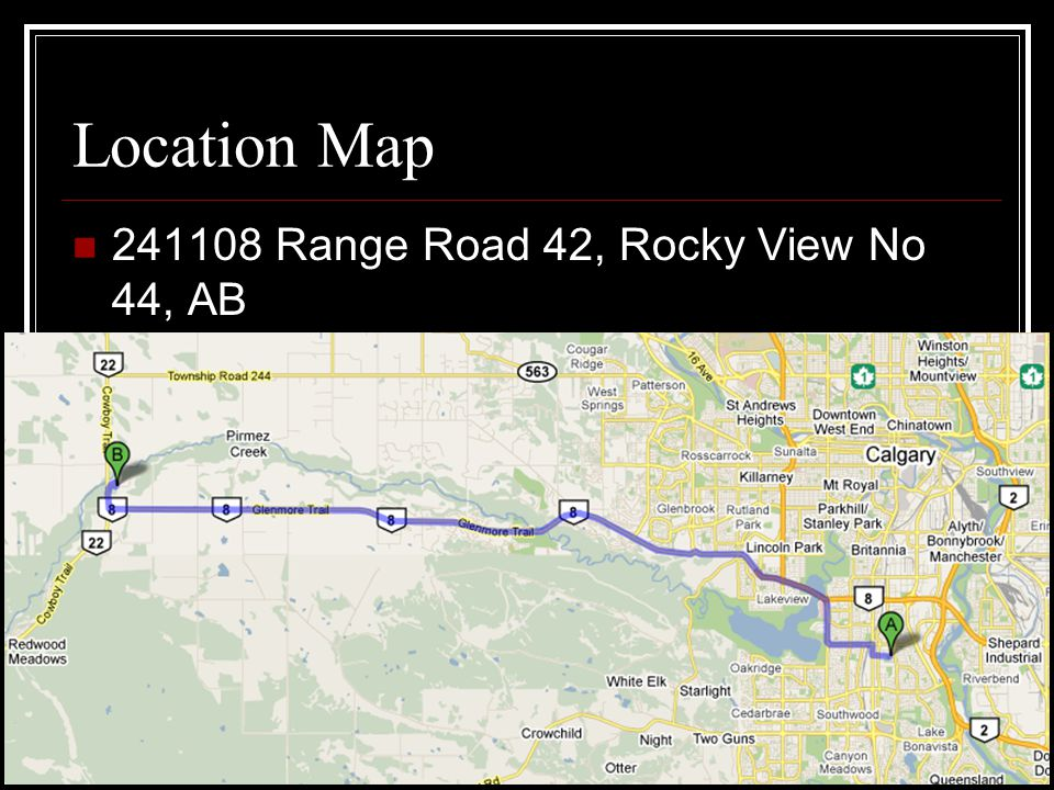 Location Map 241108 Range Road 42, Rocky View No 44, AB