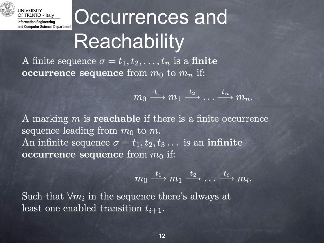 12 Occurrences and Reachability