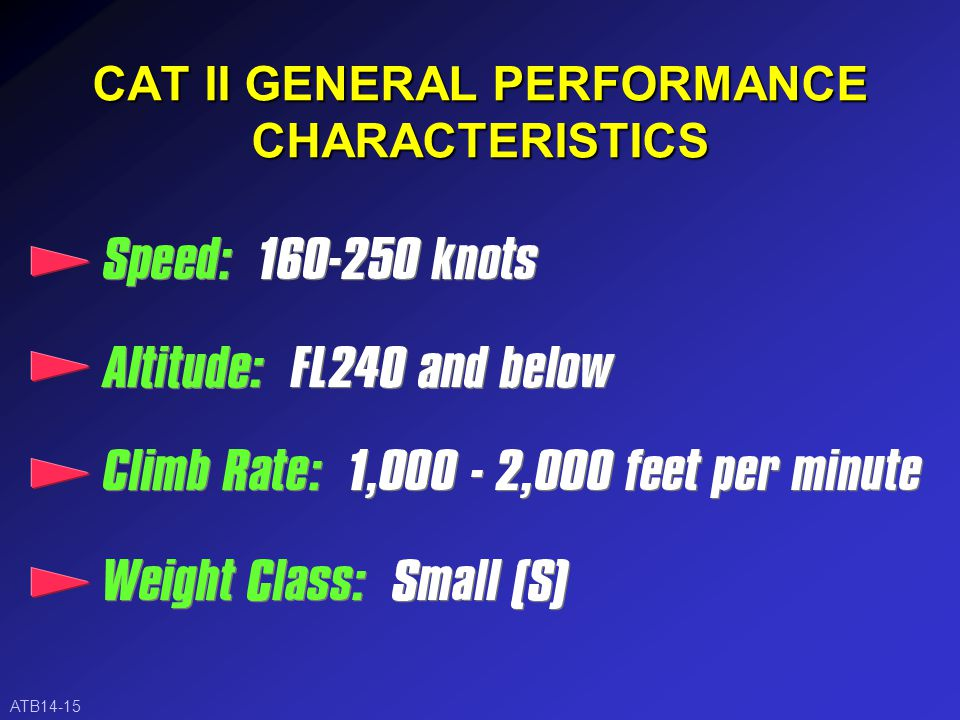 CAT I GENERAL PERFORMANCE CHARACTERISTICS ATB14-14