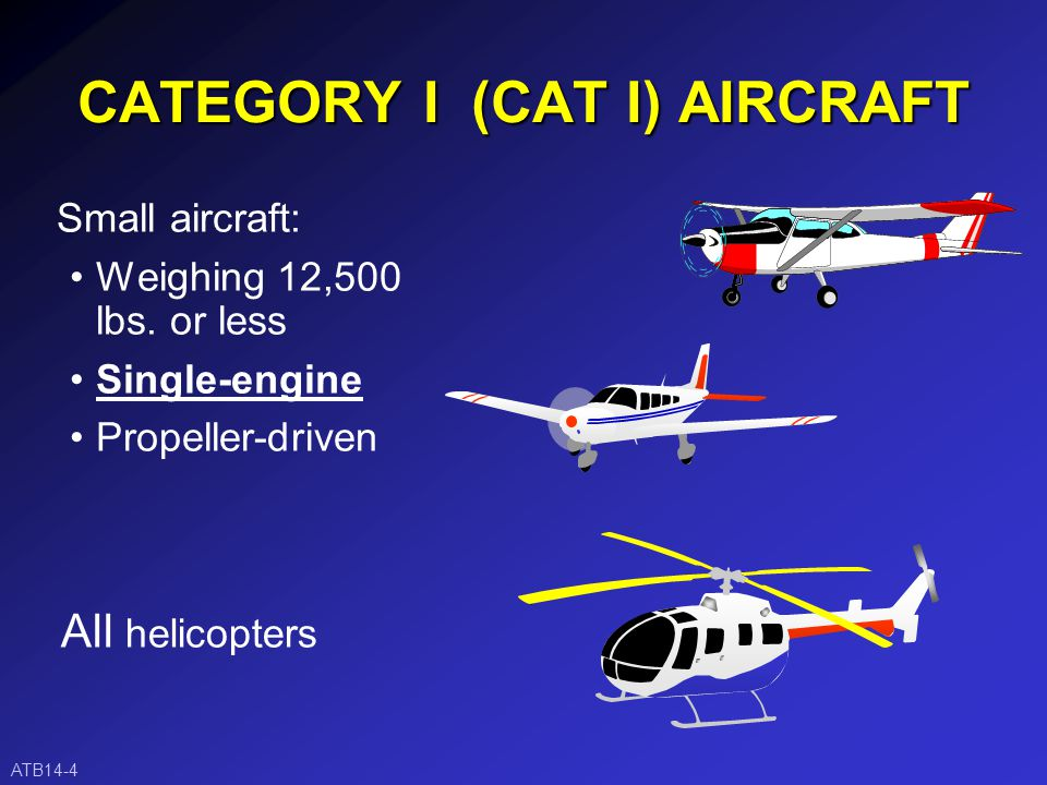 AIRCRAFT CATEGORIES ATB14-3