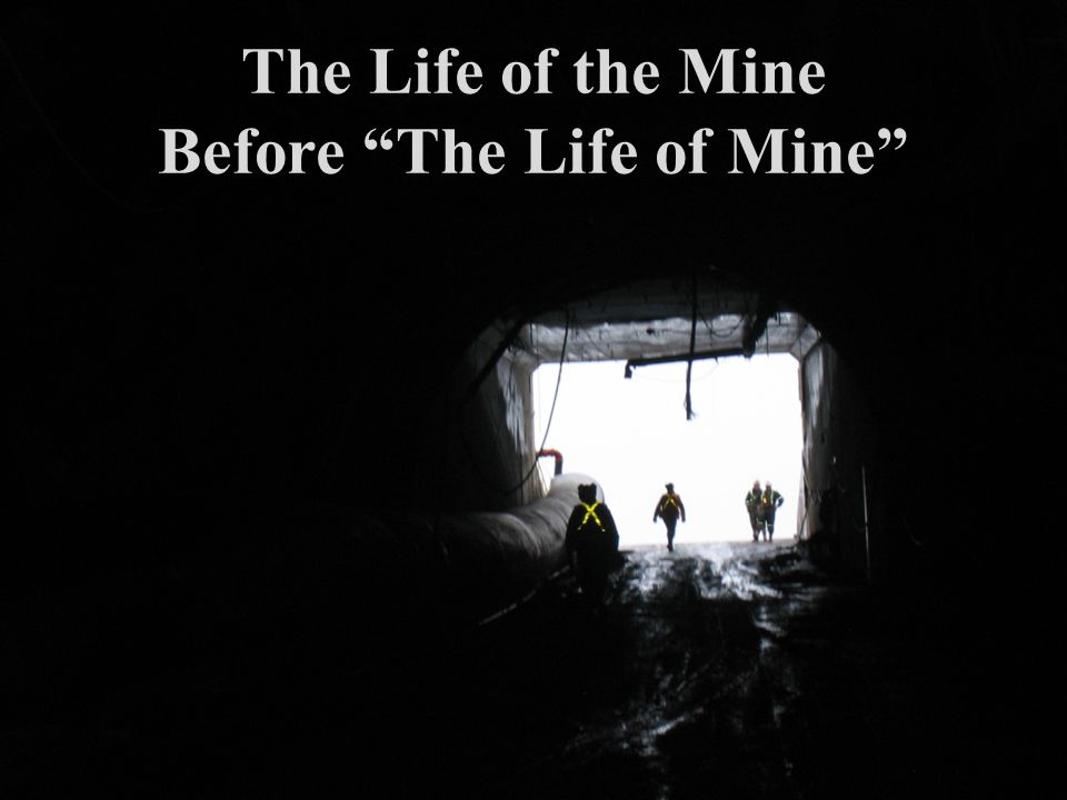 The Life of the Mine Before The Life of Mine