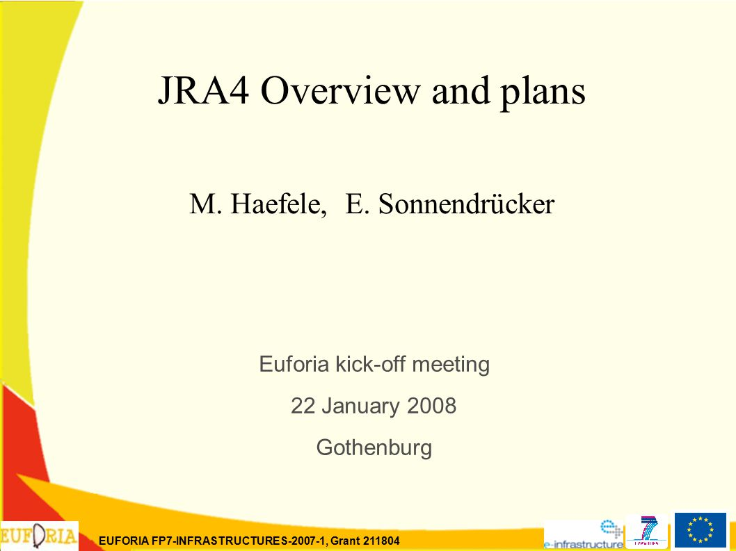 EUFORIA FP7-INFRASTRUCTURES-2007-1, Grant 211804 JRA4 Overview and plans M.