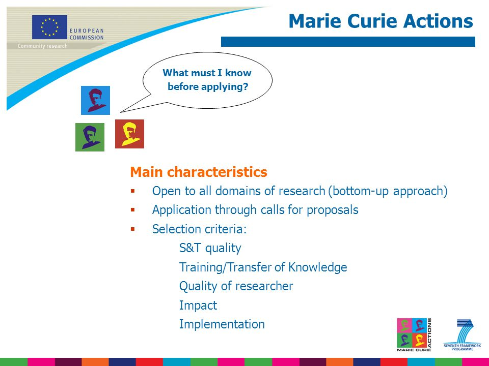 Marie Curie Actions What must I know before applying.