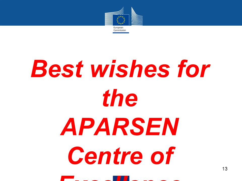 Best wishes for the APARSEN Centre of Excellence 13