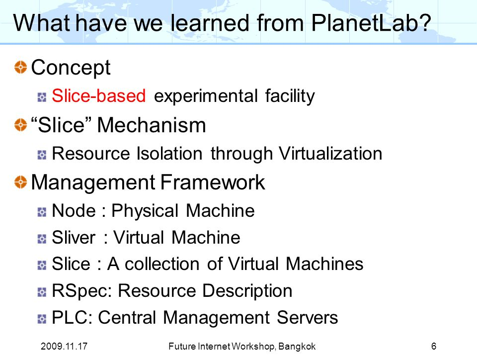 What have we learned from PlanetLab.