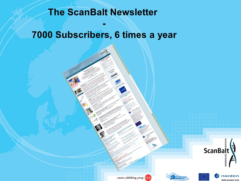 The ScanBalt Newsletter - 7000 Subscribers, 6 times a year