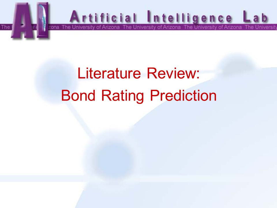 Literature Review: Bond Rating Prediction