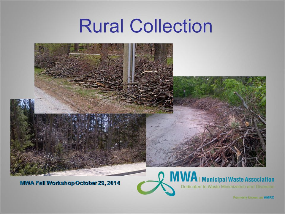 MWA Fall Workshop October 29, 2014 Rural Collection