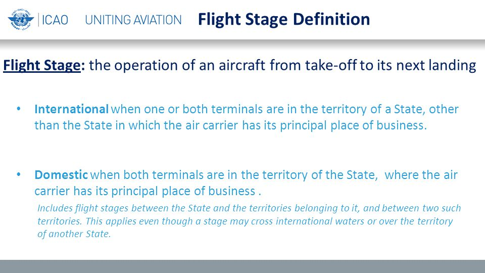 International when one or both terminals are in the territory of a State, other than the State in which the air carrier has its principal place of business.