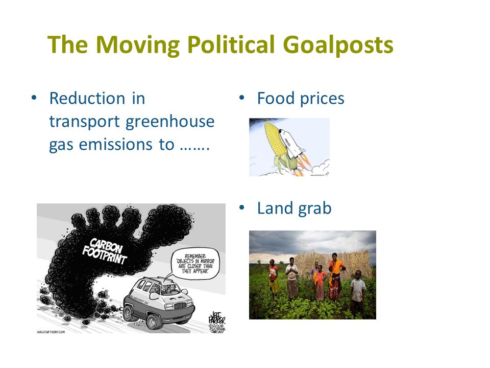 The Moving Political Goalposts Reduction in transport greenhouse gas emissions to …….