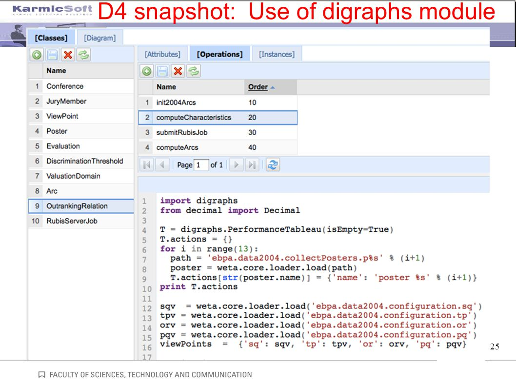 25 D4 snapshot: Use of digraphs module
