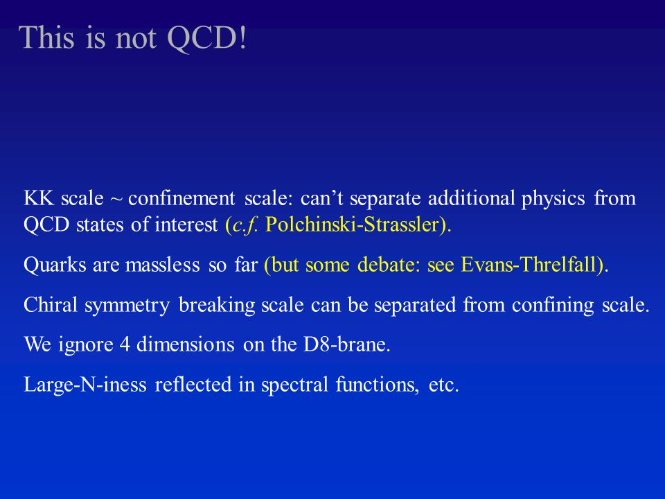 This is not QCD.