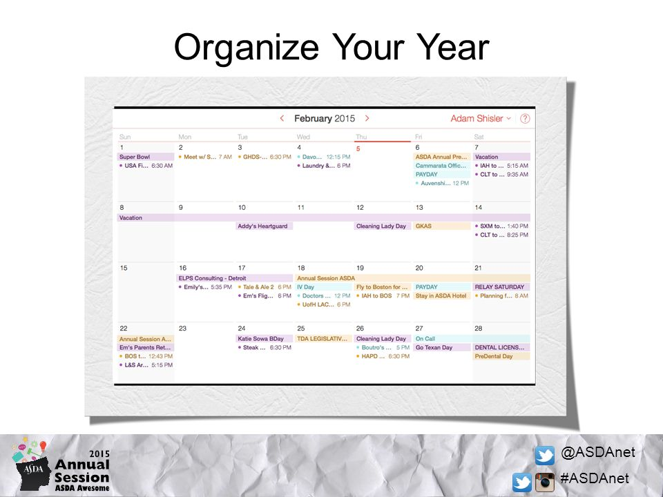 @ASDAnet #ASDAnet Organize Your Year