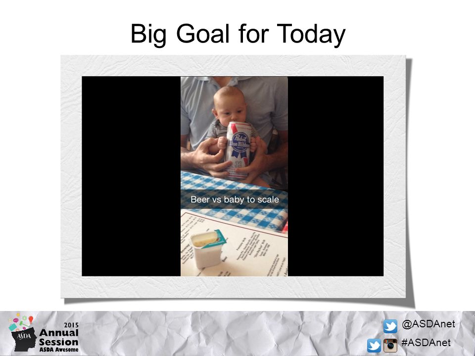 @ASDAnet #ASDAnet Big Goal for Today