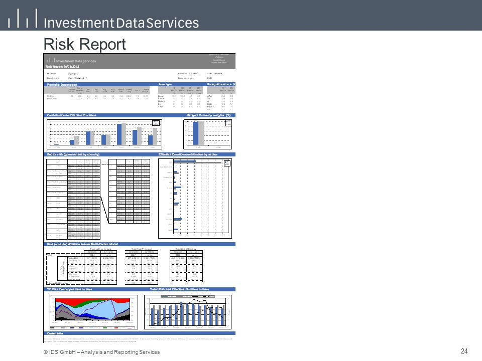 © IDS GmbH – Analysis and Reporting Services 24 Risk Report