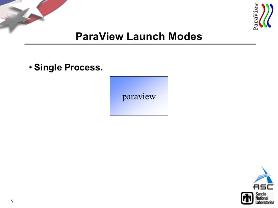 15 ParaView Launch Modes paraview Single Process.