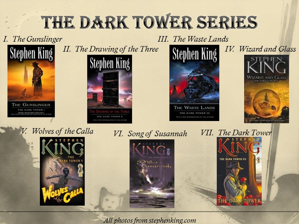 VII. The Dark Tower I. The Gunslinger II. The Drawing of the Three III.