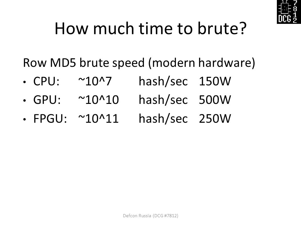 How much time to brute.