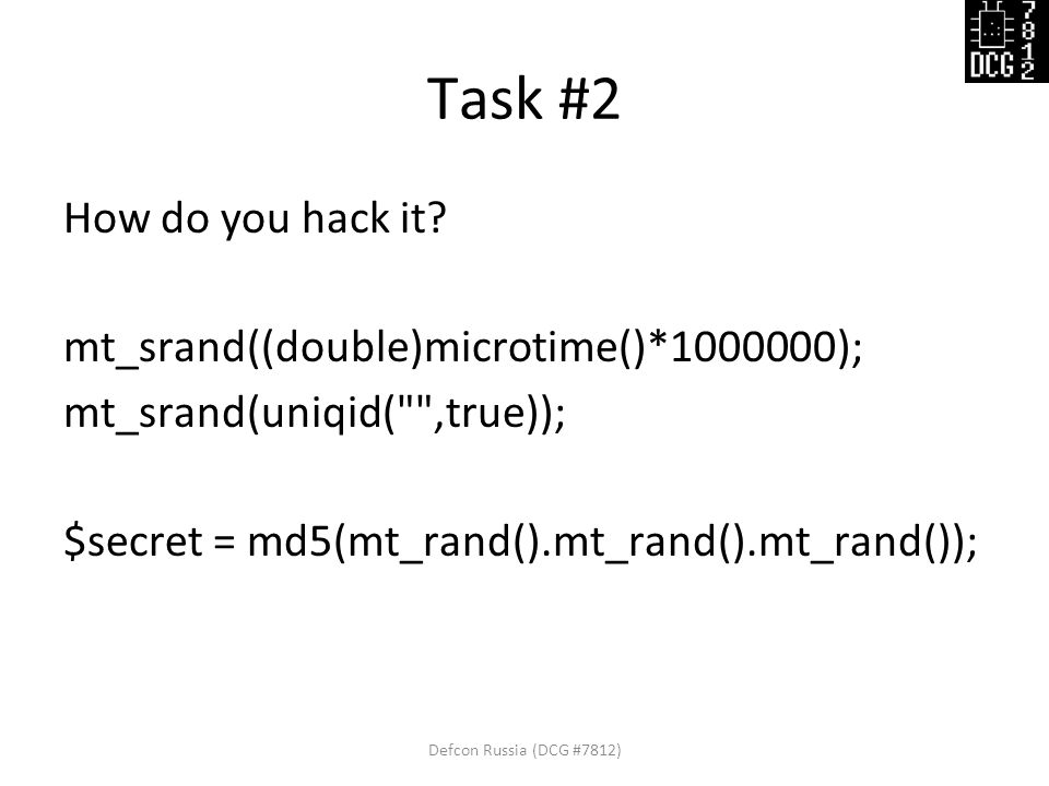 Task #2 How do you hack it.