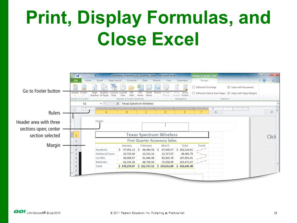 with Microsoft ® Excel 2010© 2011 Pearson Education, Inc.