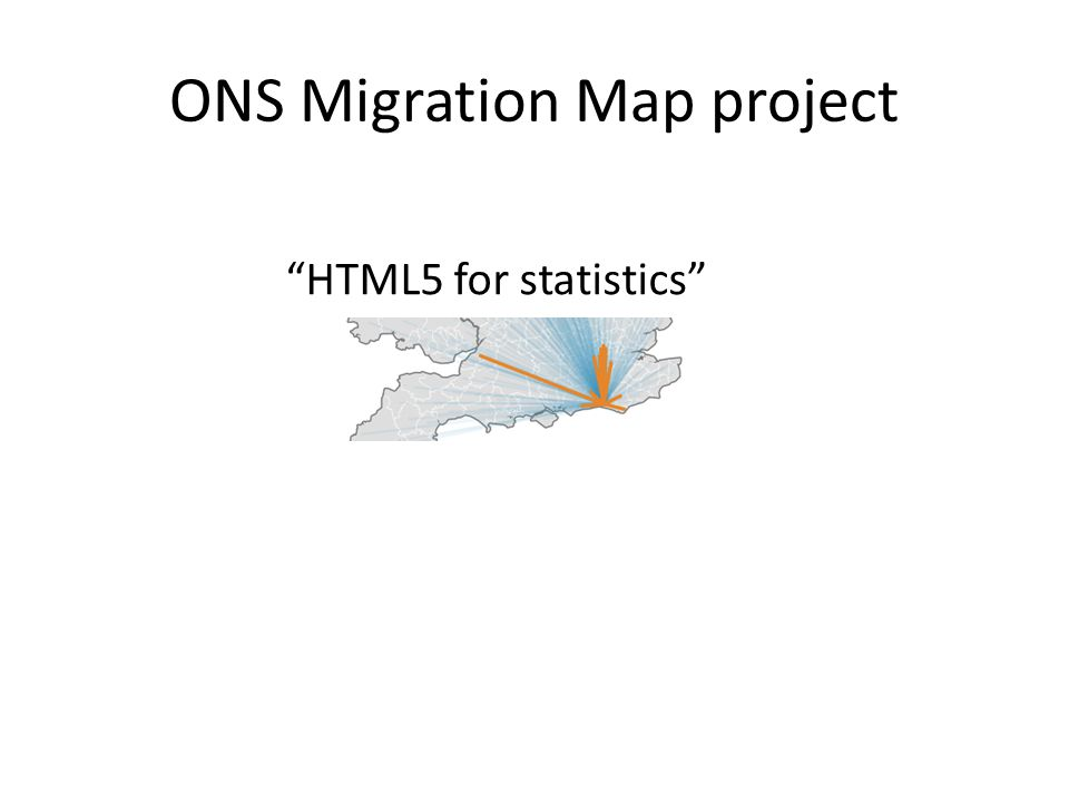 ONS Migration Map project HTML5 for statistics