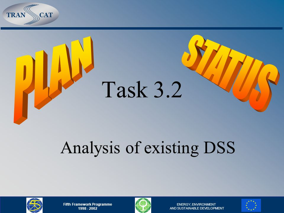 TRANCAT Fifth Framework Programme 1998 - 2002 ENERGY, ENVIRONMENT AND SUSTAINABLE DEVELOPMENT Task 3.2 Analysis of existing DSS